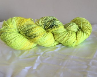 Radioactive Sunflower - Hand Dyed MCN sock