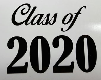 """CLASS OF 2020 Decal / Sticker 5"""" - any color - SENIOR High School   - You pick the color  - free shipping!!!!!"""