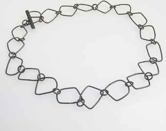 Oxidized Hand-Crafted Contemporary Chain