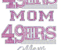 Rhinestone 49ers Mom Sparkly Bling Hotfix Transfer