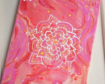 """BIRTHDAY SALE Abstract Painting-""""Radiantly You""""- 9x12 canvas - Original Art"""