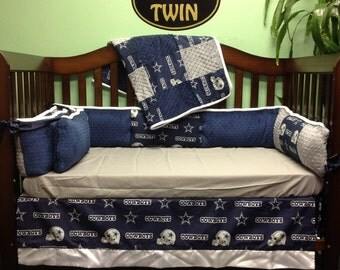 "4 pc Standard Crib Bedding Set ""NFL Dallas Cowboys"""