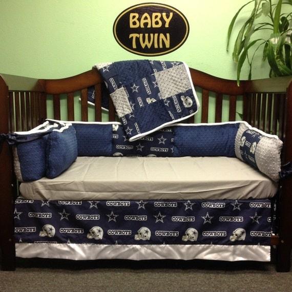 4 pc Standard Crib Bedding Set NFL Dallas Cowboys