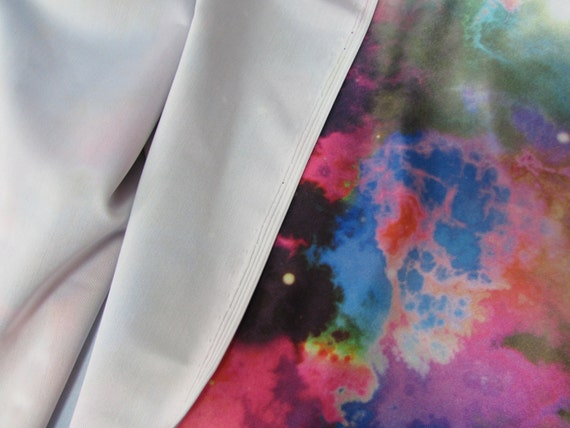 Space universe galaxy spandex fabric sold by the yard from for Lycra space fabric