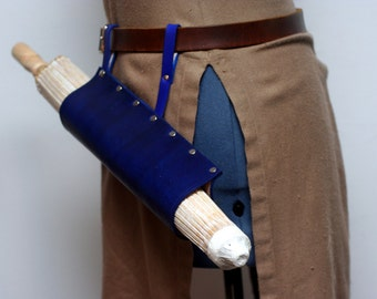 Blue Leather Parasol Holster