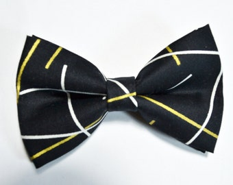 Black and Gold Bow Tie /baby/boy/adult/adjustable strap/Clipon/bow tie