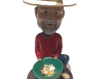 Gold Mining Bobble Head