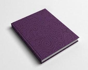 Journal or Spiral Notebook | Purple Sky Hard Cover Journal or Wire Bound Notebook | School Notebook | Spiral Notebook for Kids