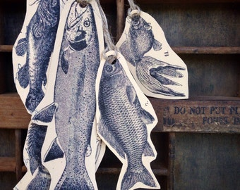 School of fish gift tags...