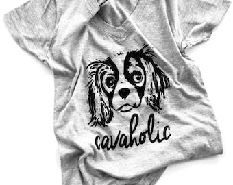 "CavLife ""Cavaholic"" T-Shirt !  *****Runs SMALL - PLEASE read description ******"