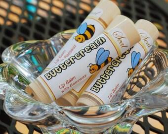 Buttercream Lip Balm, Beeswax Lip Balm, Summer Lip Balm