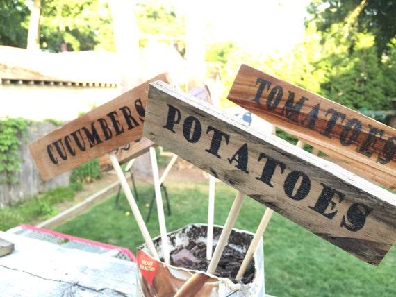 Vegetable Garden Sign Garden Stake Custom Garden Sign