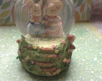 """Tiny Talk Collection Glitter Globe """"Love Is For Sharing"""" As Is SALE"""