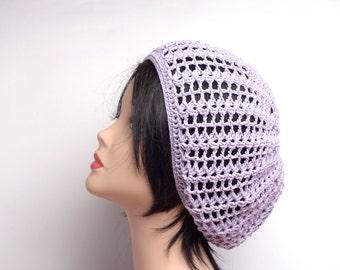 lilac hat crochet beret womens boho beanie pastel hat lavender beanie womens slouchy hat beanie summer accessories