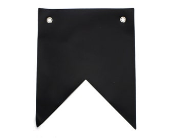 Set of 12 Chalkboard Banner. (Swallow Tail/Triangle) Chalk ink friendly Great for events decoration. (CBF-x)