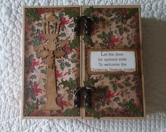 Gatefold Christmas Scrapbook/Journal/Album