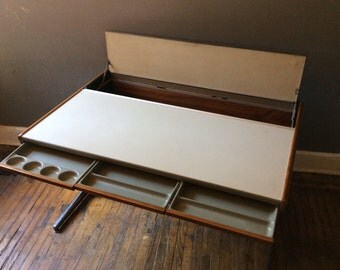 Mid century modern desk Herman miller desk George Nelson for herman miller mid century architect desk