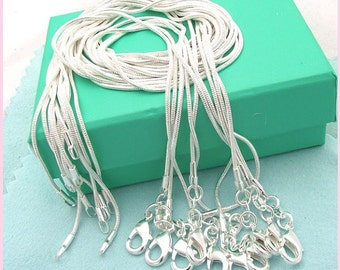 """Sterling Silver 24"""" Snake Chain Necklace"""