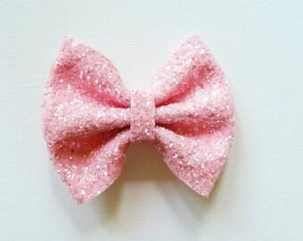 Ballet Pink Glitter Bow
