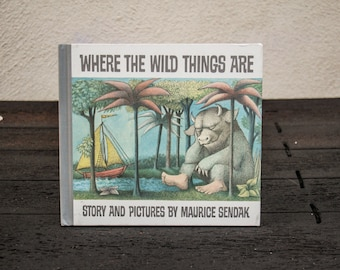 Vintage Where the Wild Things Are Hardback Book 25th Anniversary