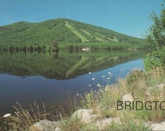 Unused Postcard of Bridgton, Maine, Moose Pond, c1970s, good shape