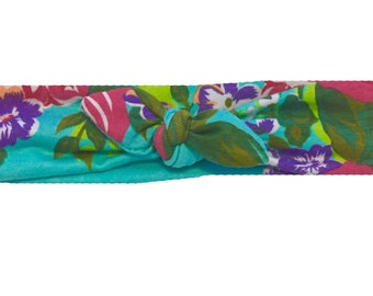 Camdyn's Floral tie top headband (any size)
