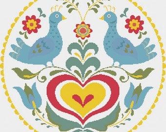 Love Doves - cross stitch pattern