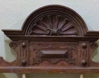 Antique Wood Crown Architectural Pediment
