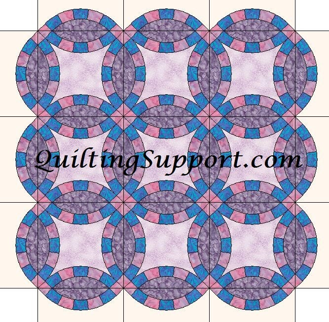 5 Segment Double Wedding Ring Quilt With By Humburgcreations