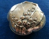 Vintage 800 Silver Pill Box, French Compact or Pill Box