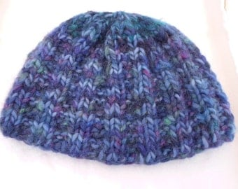 Multi Colored Alpaca and Wool Knit Hat