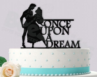 Disney Inspired Once Upon a Dream Sleeping Beauty Wedding Cake Topper