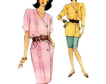 Vogue Sewing Pattern 8023  Misses' / Misses' Petite Dress, Top, Skirt  Size:  18-20-22  Used