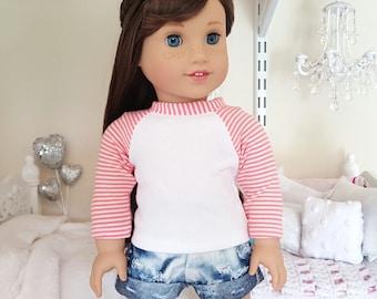 american girl doll baseball tee
