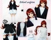 BJD kawaii School uniform cosplay anime clothing set