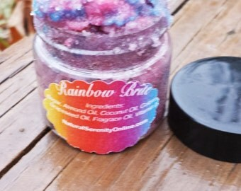 Rainbow Bright Lip Scrub, Moituring Scrub, All Natural Scrub, Great For Dry Winter Lips