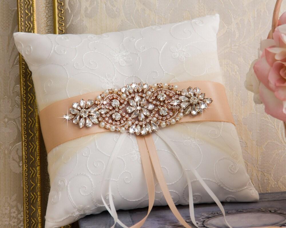 Rose Gold Ring Bearer Pillow Blush Wedding Ring Pillow
