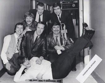 Original photograph Kenny Ball and Jazzmen (circa 1970's) Photographer Stamp