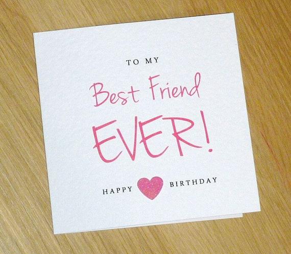 Female Happy Birthday card teenage girl Best by VickiGcards