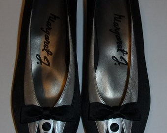 Vintage Pair of Margaret J. Low Heel Tuxedo Pumps