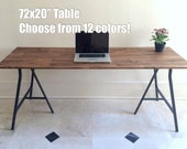72x20 Long Narrow Desk/ Table on Ikea Legs. Choose from 10 Colors! Other sizes available, visit my shop for more.