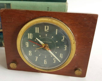 Westclox Brucewood Solid Mahogany Electric Clock