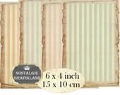 Vintage Paper Background Stripes printable craft papers pastel scrapbook 6 x 4 inch Instant Download digital collage sheet D161