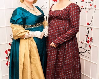 Custom Regency Gown High Quality Made to order Jane Austen