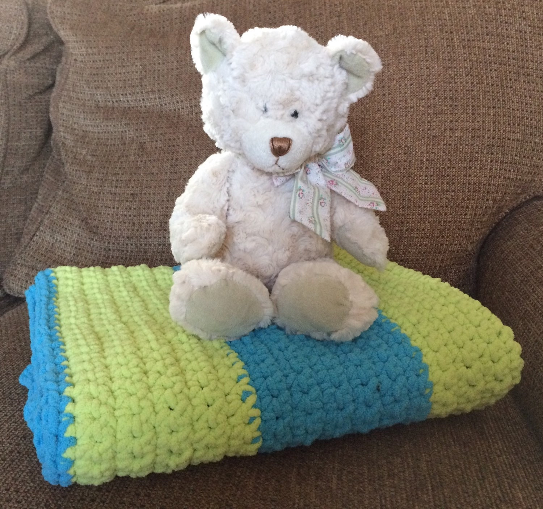 Crochet Plush Baby Blanket Super Soft & Cuddly