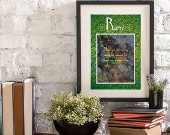 October Branches and Roots A Year of Rumi Inspirational Quote Artwork Print Poster