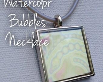 Watercolor Bubbles Necklace