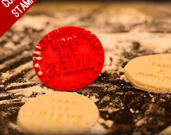 Custom Cookie Stamp for cookies - personalized cookie stamper - cookie cutter