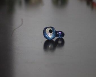 Translucent Blue Eye Glass Pendant