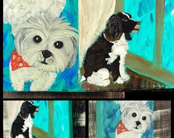 Dog Portrait- Custom Pet Portrait- Custom Dog Portrait- Dog Painting- Small Dog- Yorkie- Yorkshire Terrier- Poodle- Pomeranian- Maltese- Pet